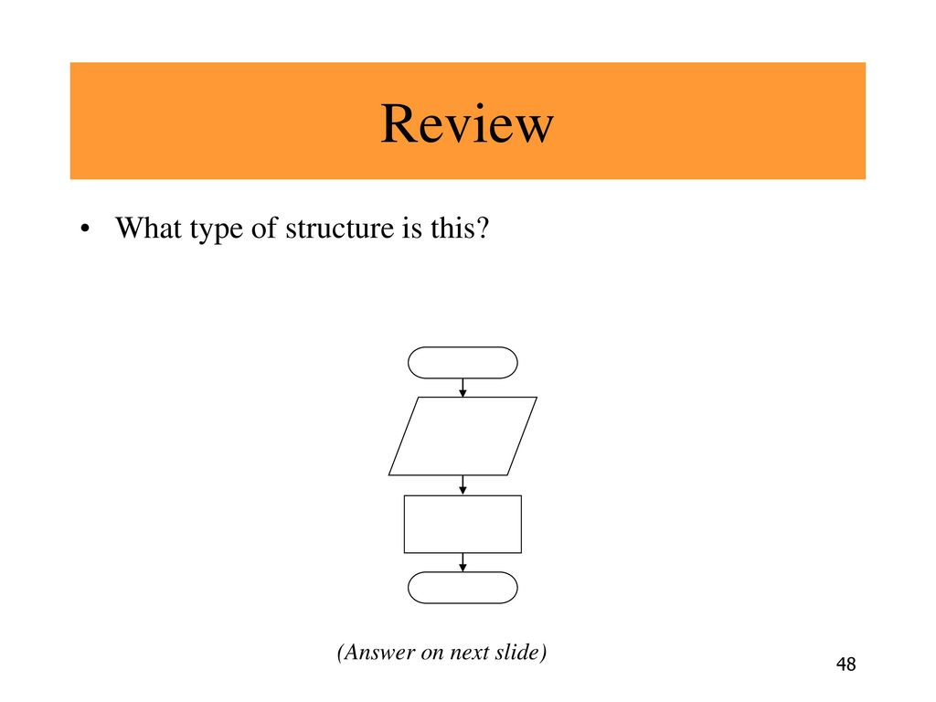 Review What type of structure is this (Answer on next slide)