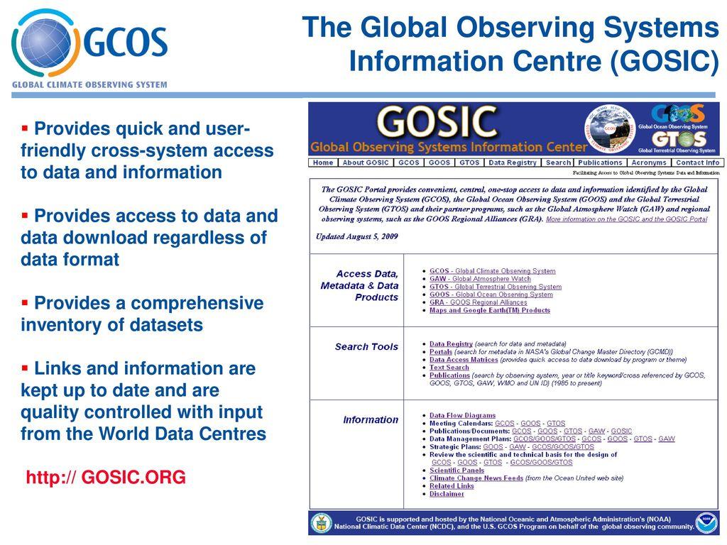 Outline 1  GCOS programme & scope - ppt download