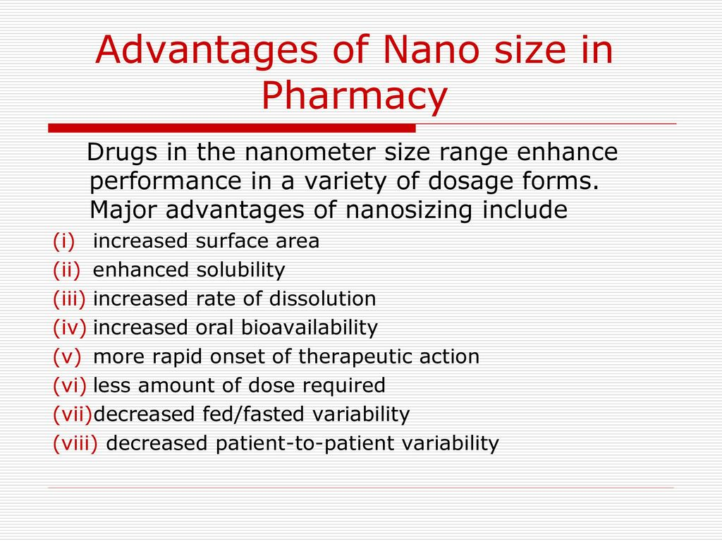 APPLICATIONS OF NANOTECHNOLOGY IN PHARMACY - ppt download