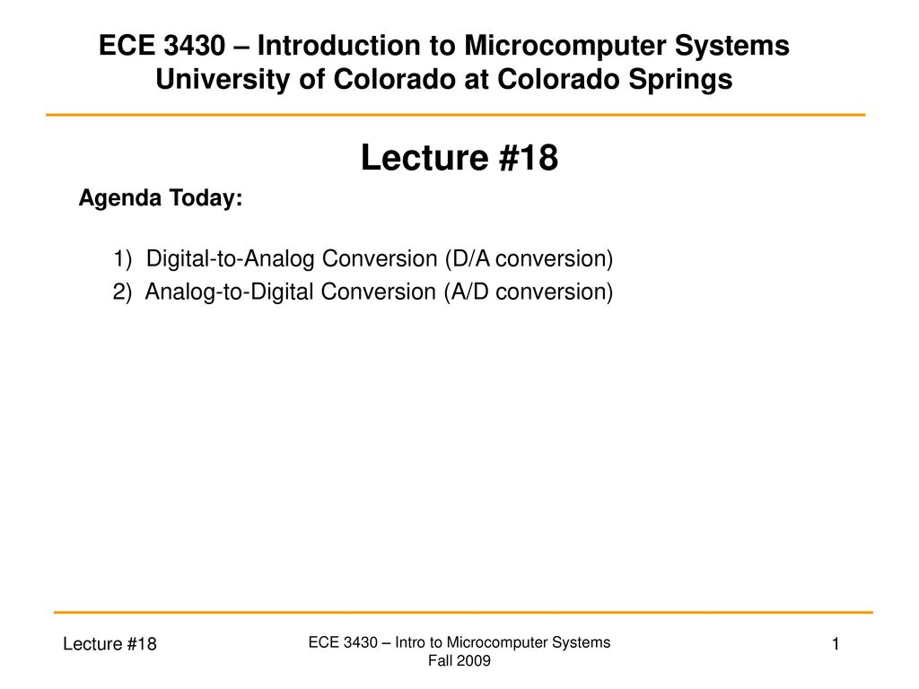 Ece 3430 Intro To Microcomputer Systems Ppt Download Cmos Integrated Analogtodigital And Digitaltoanalog Converters