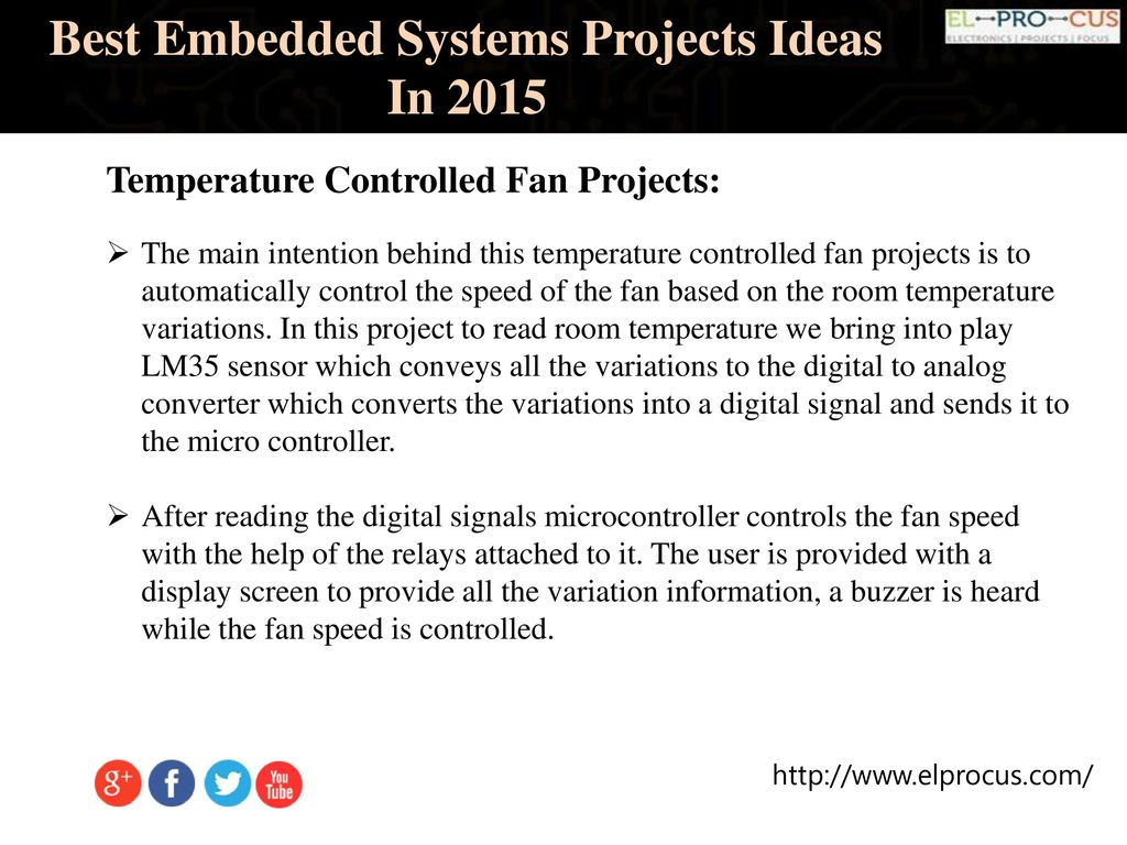 Best Embedded Systems Projects Ideas In Ppt Download Temperature Controled Fan 8 2015 Controlled