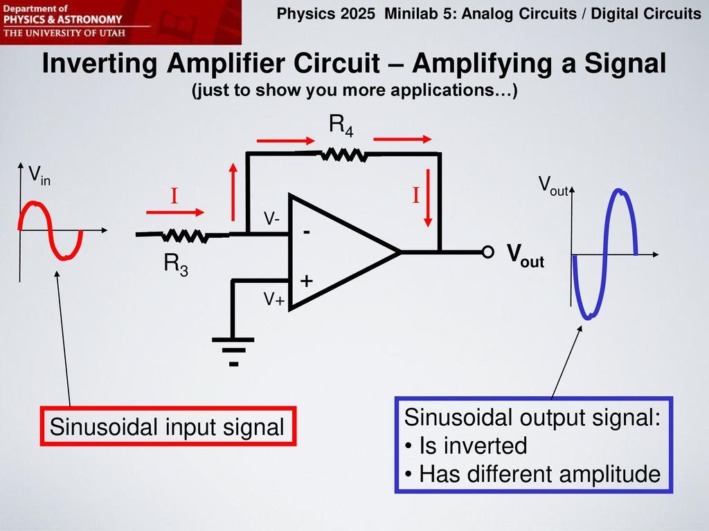 Purpose Of This Minilab Ppt Download Op Circuits On Lf351 Pin Diagram Inverting Amplifier Circuit Amplifying A Signal Just To Show You More Applications