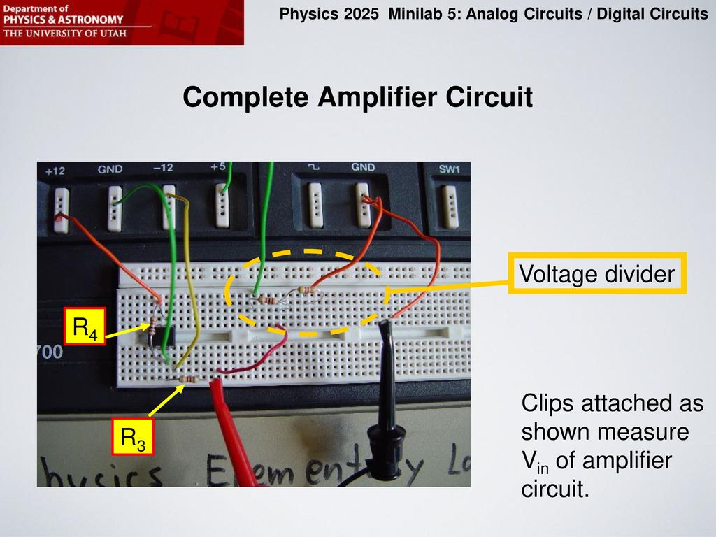 Purpose Of This Minilab Ppt Download And Learn About Digital Analog Electronic Circuits Circuit Complete Amplifier