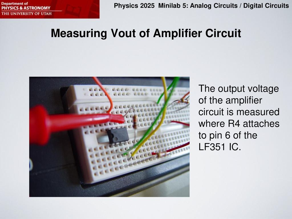 Purpose Of This Minilab Ppt Download Mp3 Player Booster Circuits Ave Measuring Vout Amplifier Circuit