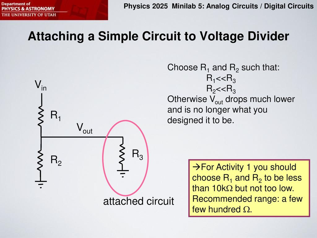 Purpose Of This Minilab Ppt Download Op Circuits On Lf351 Pin Diagram Attaching A Simple Circuit To Voltage Divider
