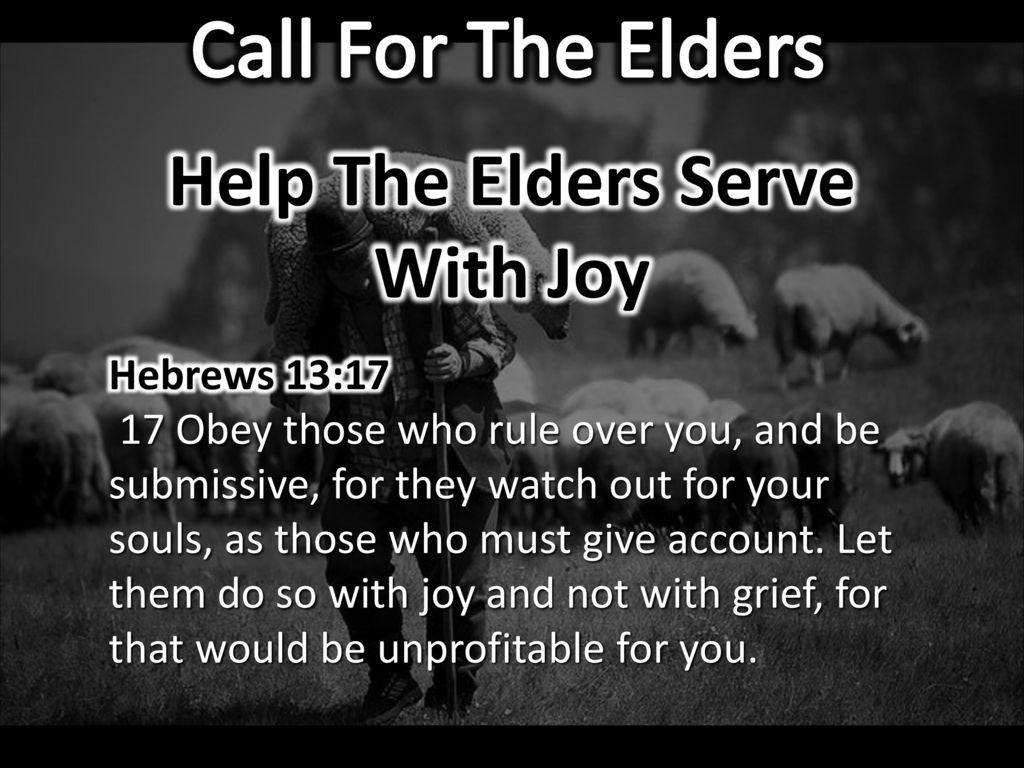 obey the elders