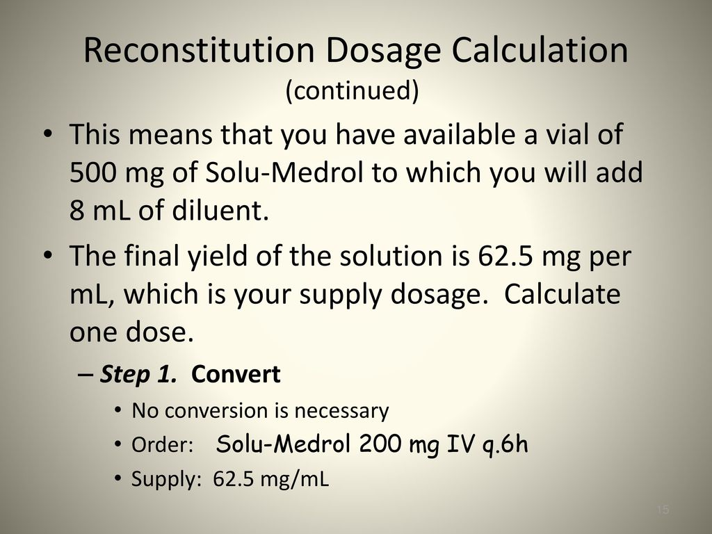 Reconstitution of Solutions - ppt download