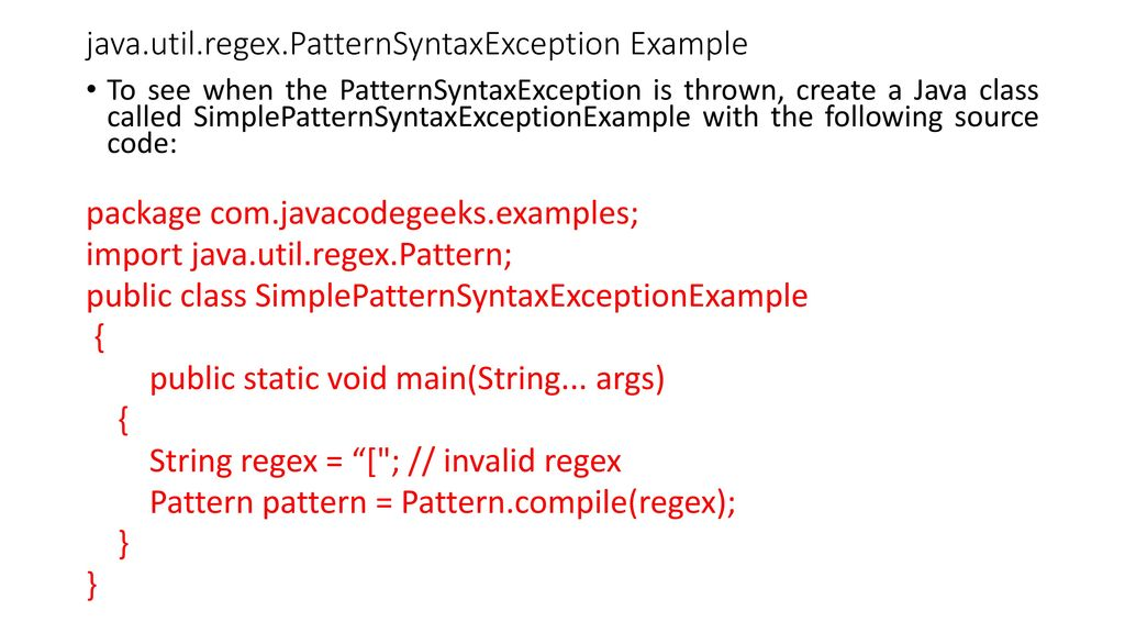 REGULAR EXPRESSION Java Provides The Javautilregex Package For Delectable Java Pattern Compile