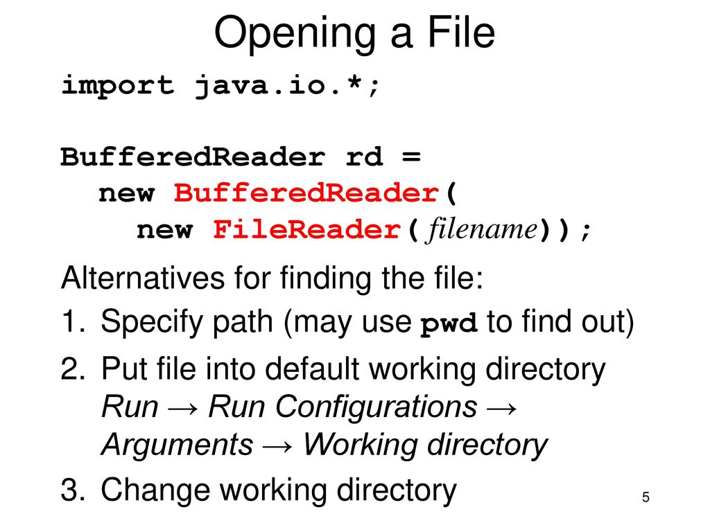 Programming – Lecture 10 Files, Exception handling (Chapter 12 4