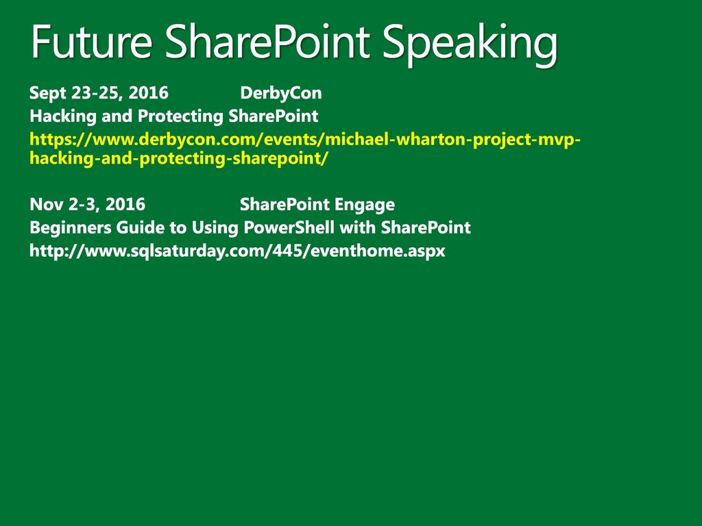 Getting Started with PowerShell and using it with SharePoint - ppt