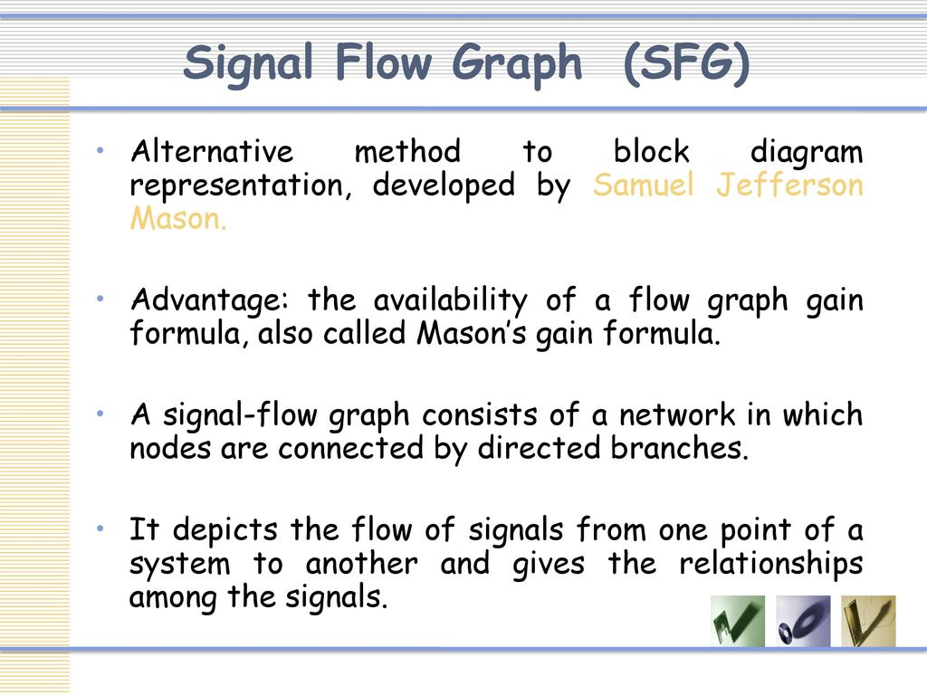 Control system engineering ppt download 4 signal flow graph sfg alternative method to block diagram representation ccuart Images