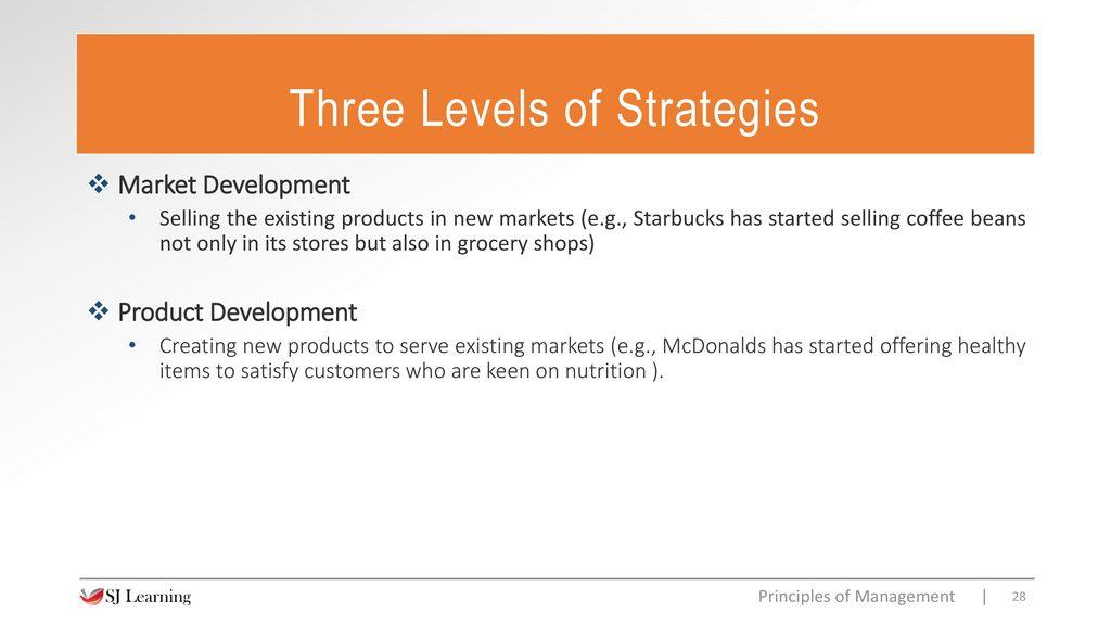 three levels of product mcdonalds