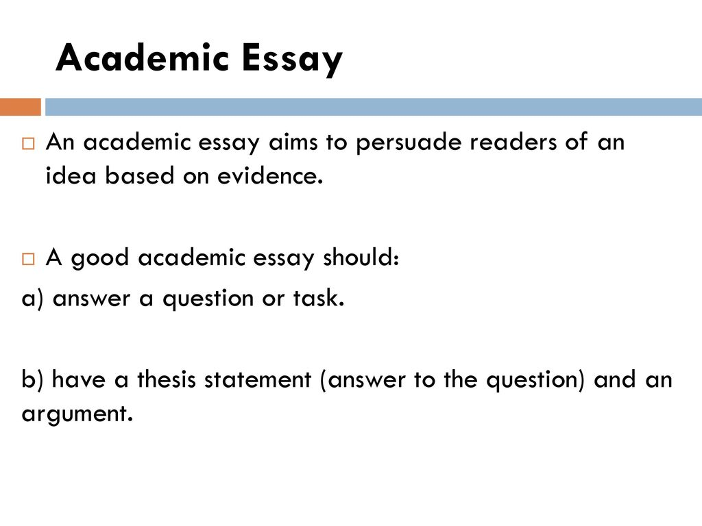 English Reflective Essay Example Academic Essay An Academic Essay Aims To Persuade Readers Of An Idea Based  On Evidence Topics For Argumentative Essays For High School also English Essays For High School Students Topic Thesis Introduction Body Conclusion Referencing Harvard  Sample Of English Essay