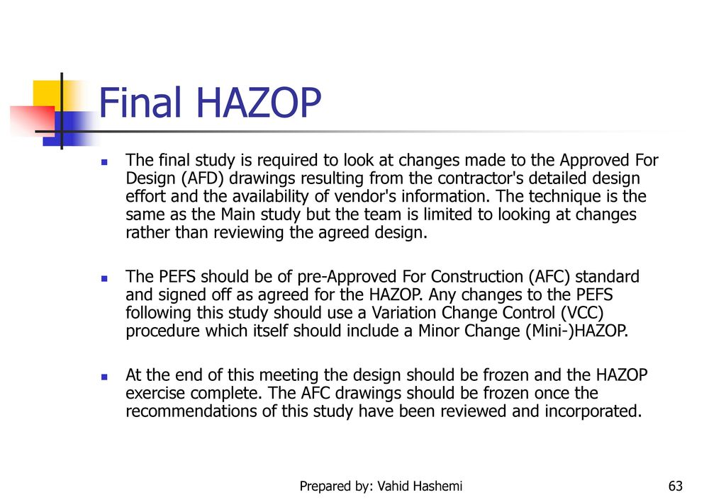 safety in process industries introduction to hazop study ppt download rh slideplayer com Teas Study Manual Version 5 Colorado CDL Study Manual