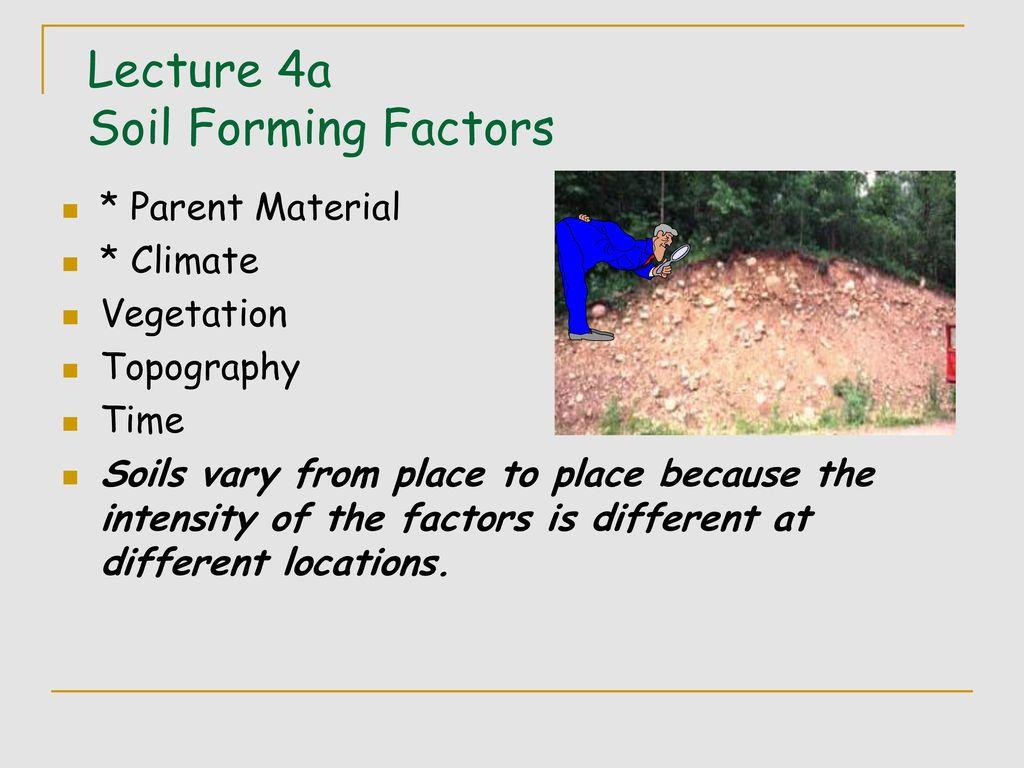Soil formation factors 36