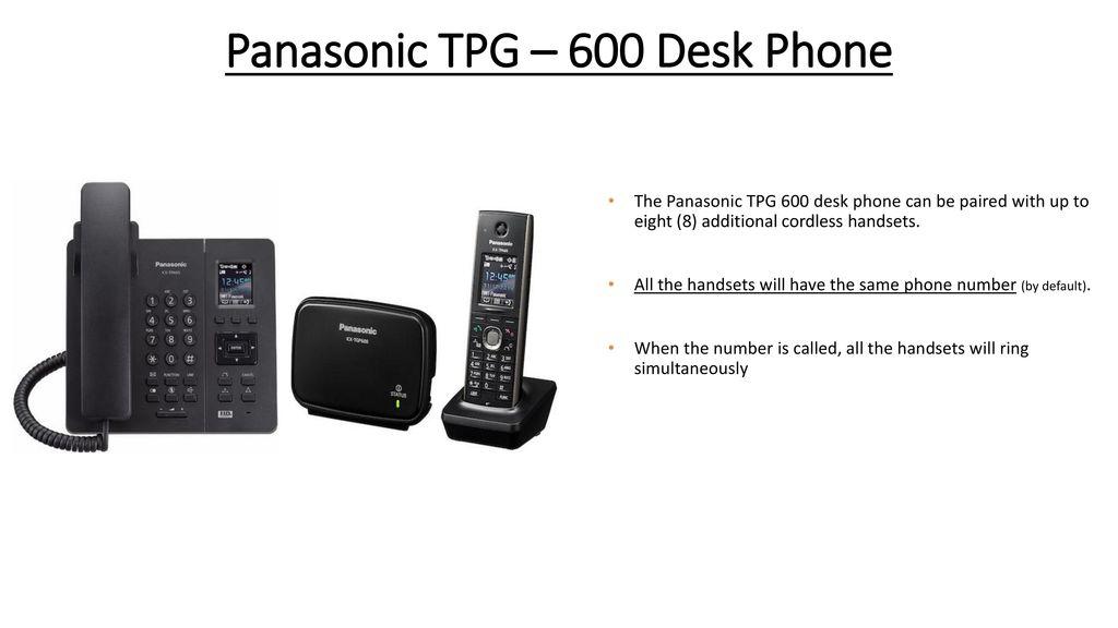 Hosted Voice Product Training Panasonic Cordless TPG-600