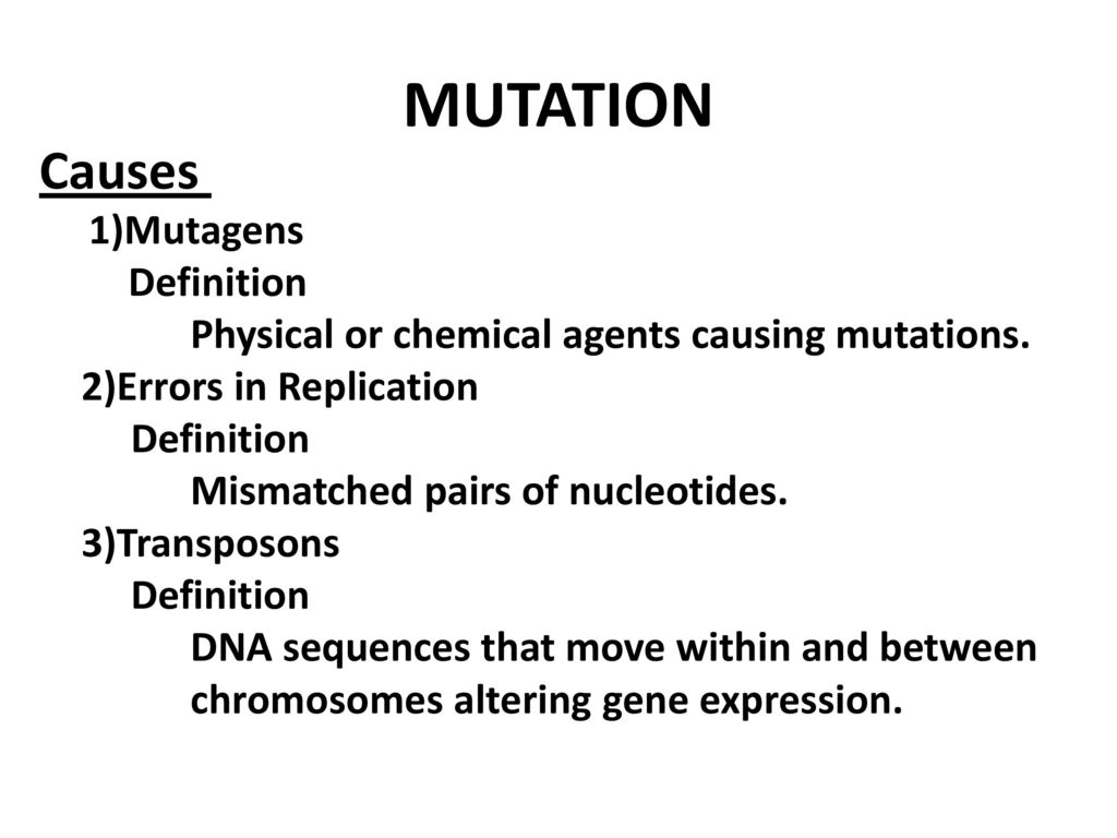 molecular genetics mutations definition - ppt download
