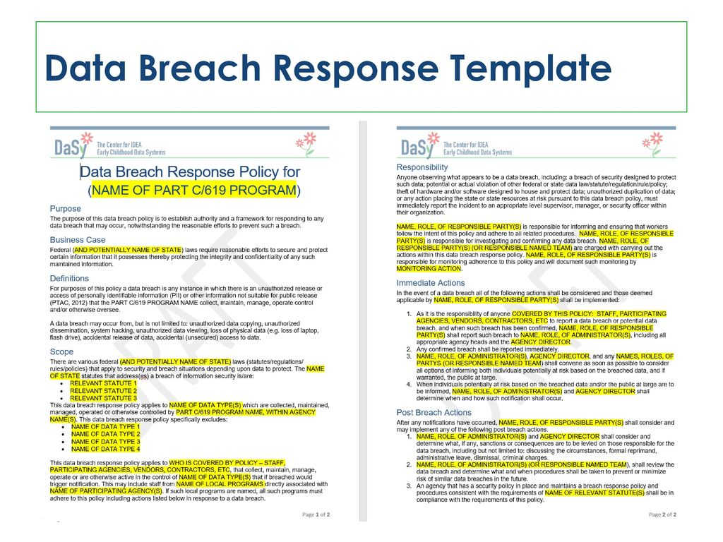 2016 Improving Data Outcomes Conference Ppt Download Breach Policy Template 43 Response
