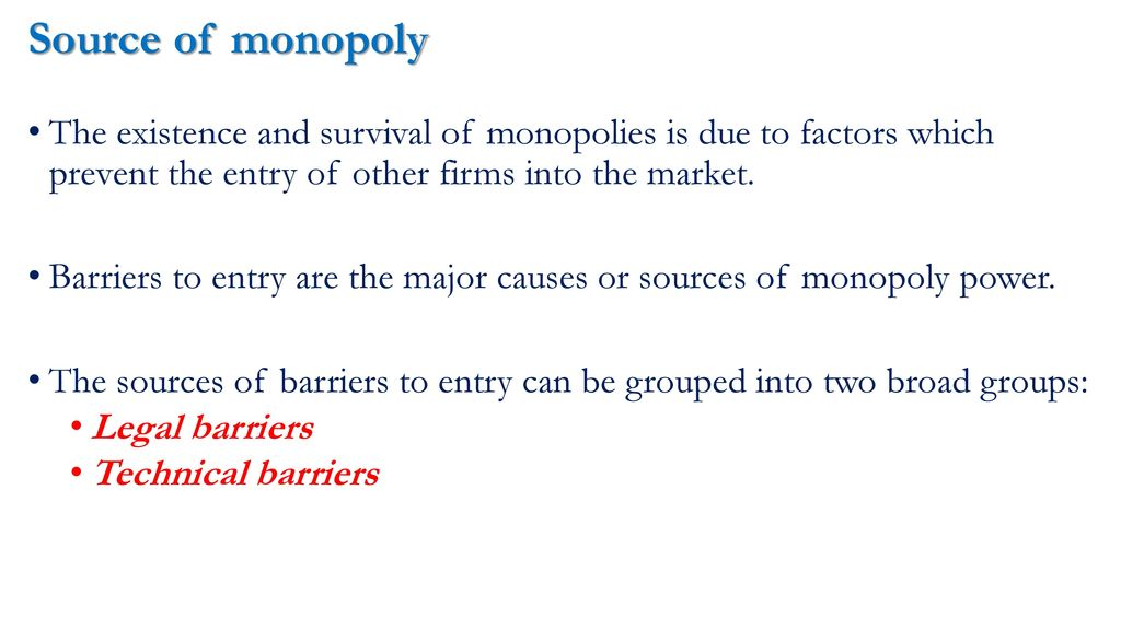 causes of monopoly power