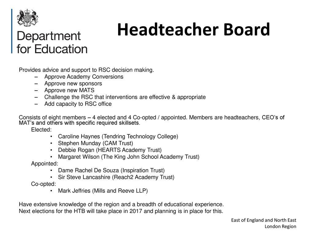 Reach2 Academy Trust >> Jonathan Lewis Deputy Director Regional School Commissioner
