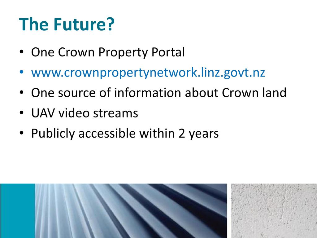 New Zealand Crown Property Portal – Unlocking the value of Crown