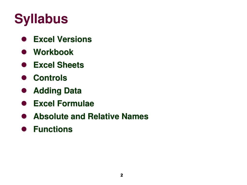 cs 106 computing fundamentals ii chapter 5 excel basics for windows