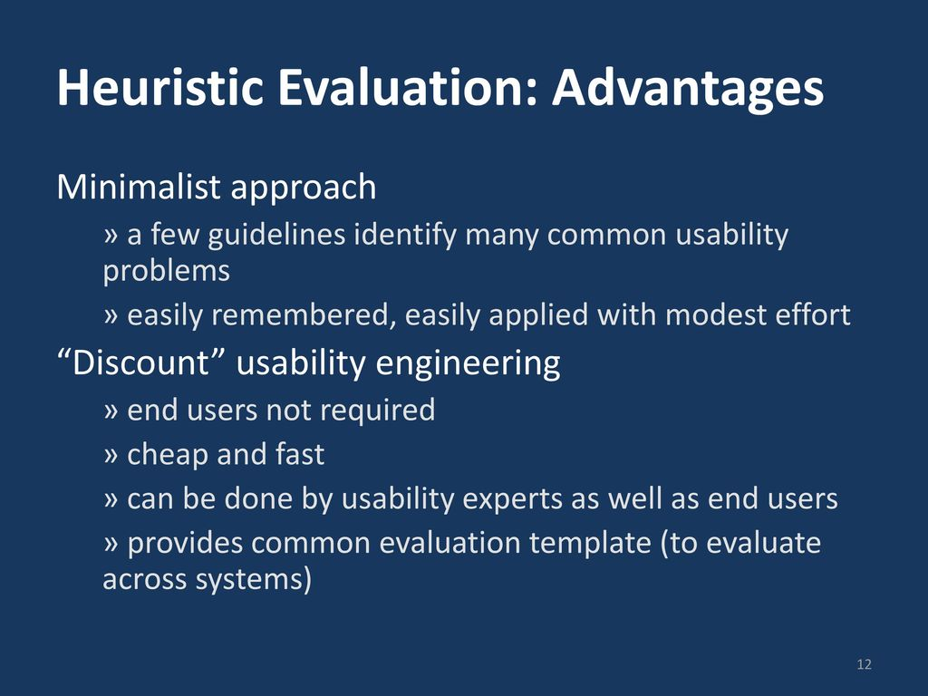 Heuristic Evaluation CPSC 481: HCI I Fall ppt download