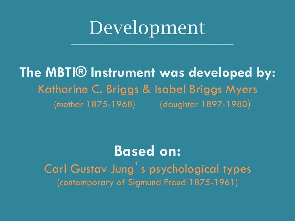 Myers Briggs Type Indicator (MBTI) - ppt download