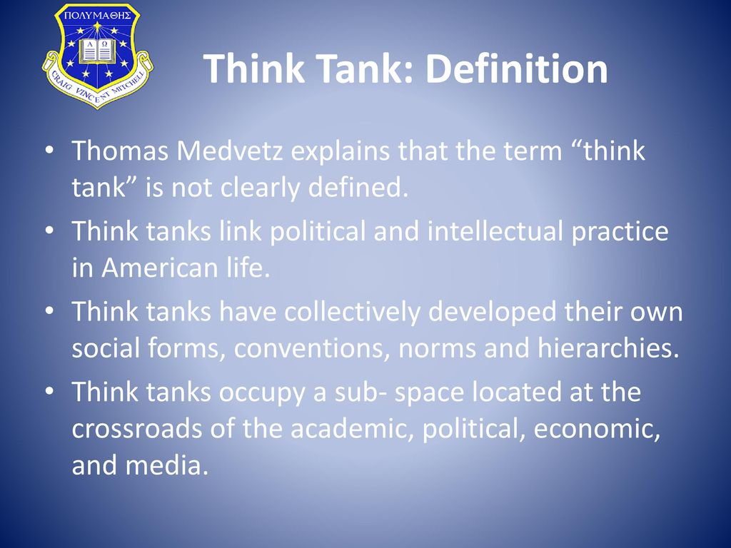 think tanks in the u.s. political system - ppt download