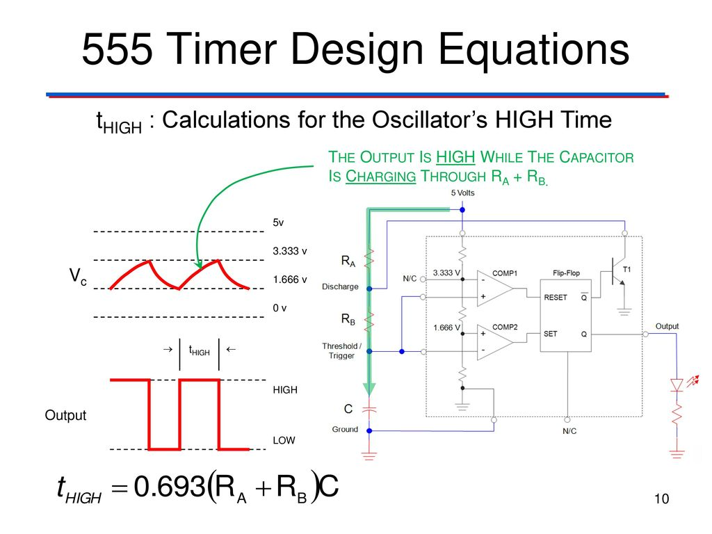 Clock Signals 555 Timer Digital Electronics Tm Ppt Download Projects For Beginners Delay Circuit Design Equations