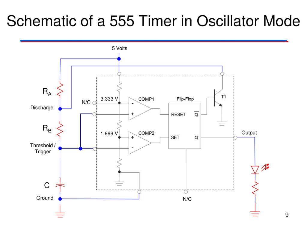 Clock Signals 555 Timer Digital Electronics Tm Ppt Download Projects For Beginners Delay Circuit Design Schematic Of A In Oscillator Mode