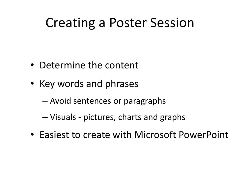 creating a poster ppt download