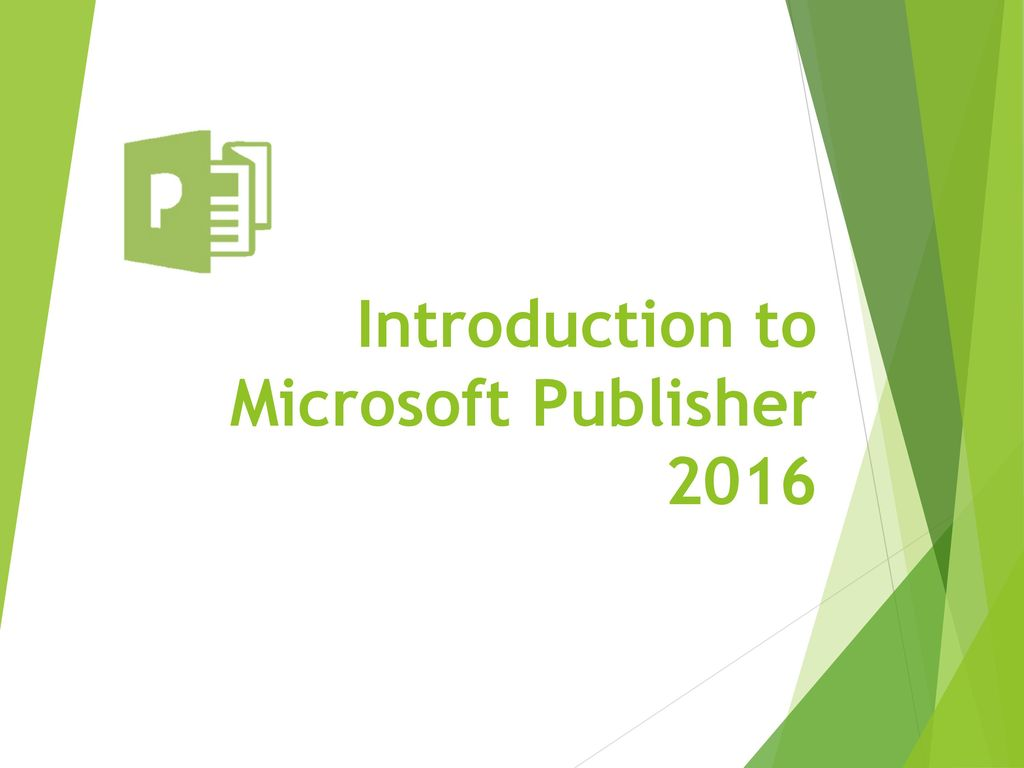 introduction to microsoft publisher ppt download