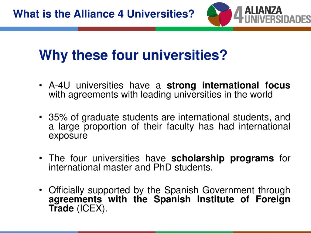 Alliance 4 Universities Ppt Download