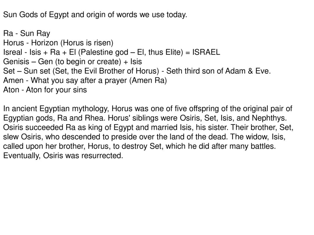 And the Origin of Sun Worship - ppt download