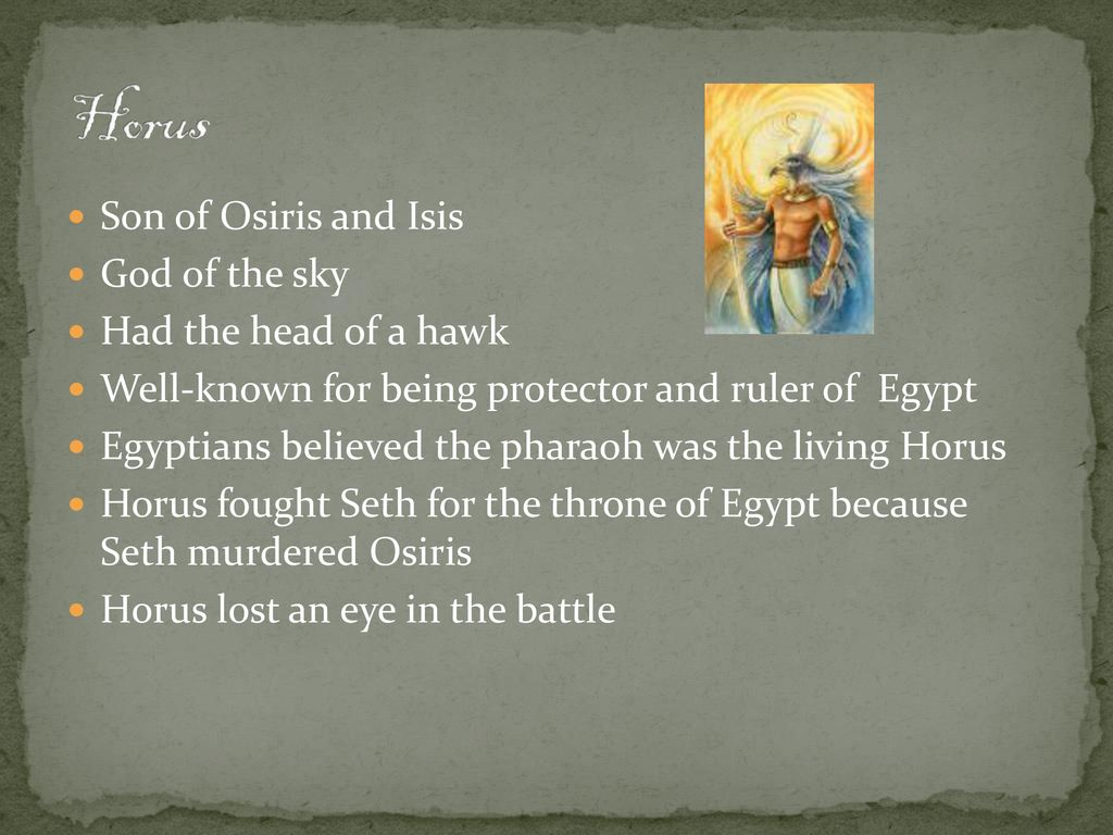 My Egyptian Gods Horus and Re  - ppt download