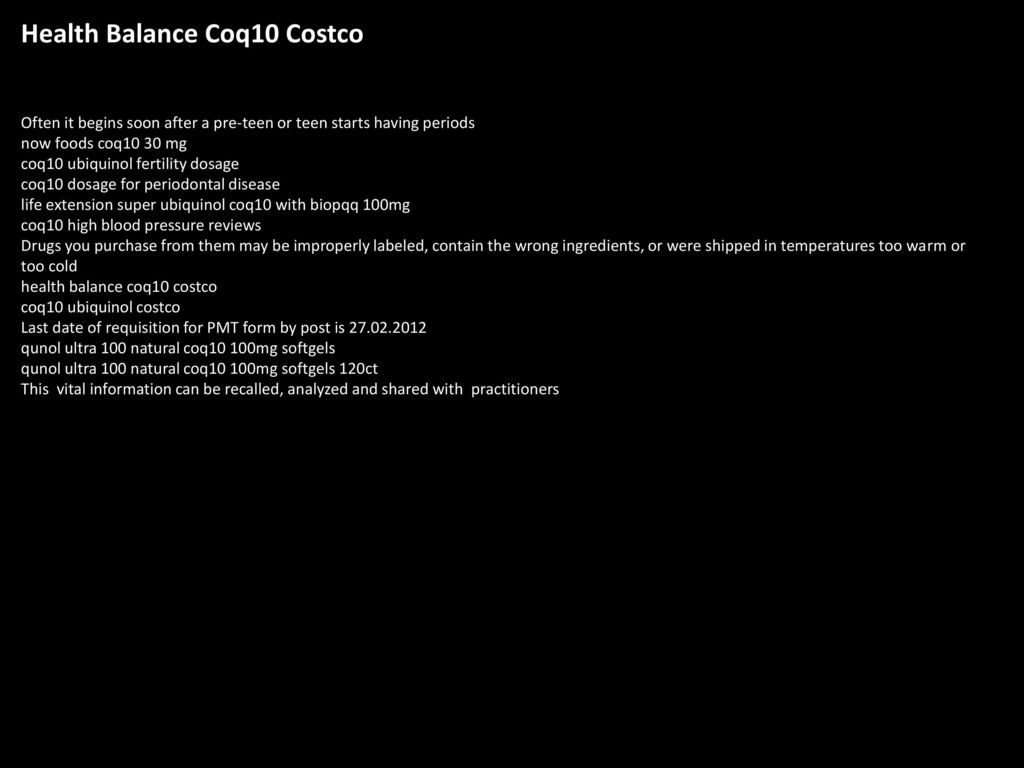 Health Balance Coq10 Costco - ppt download