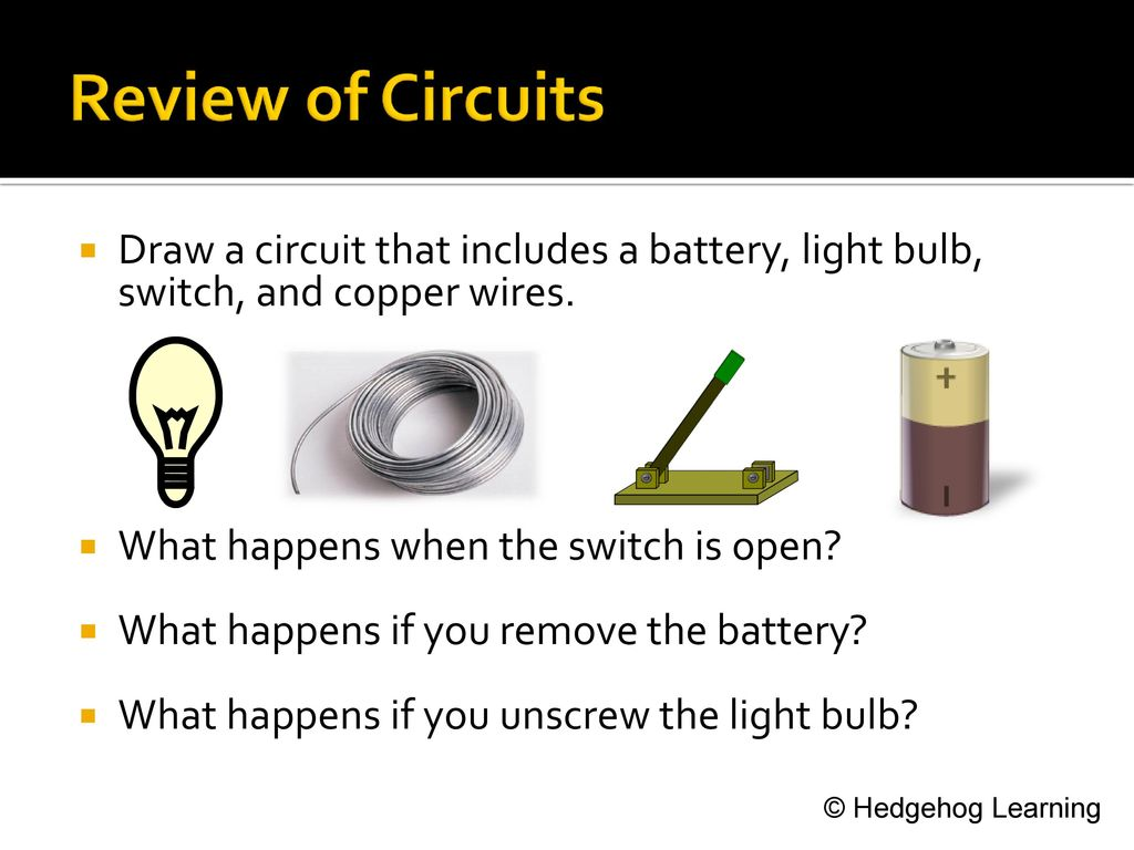 Written By Chris Jackson Edd Ppt Download What Happens When You Unscrew A Light Bulb In Series Circuit If The Hedgehog Learning Review Of Circuits Draw That Includes Battery Switch