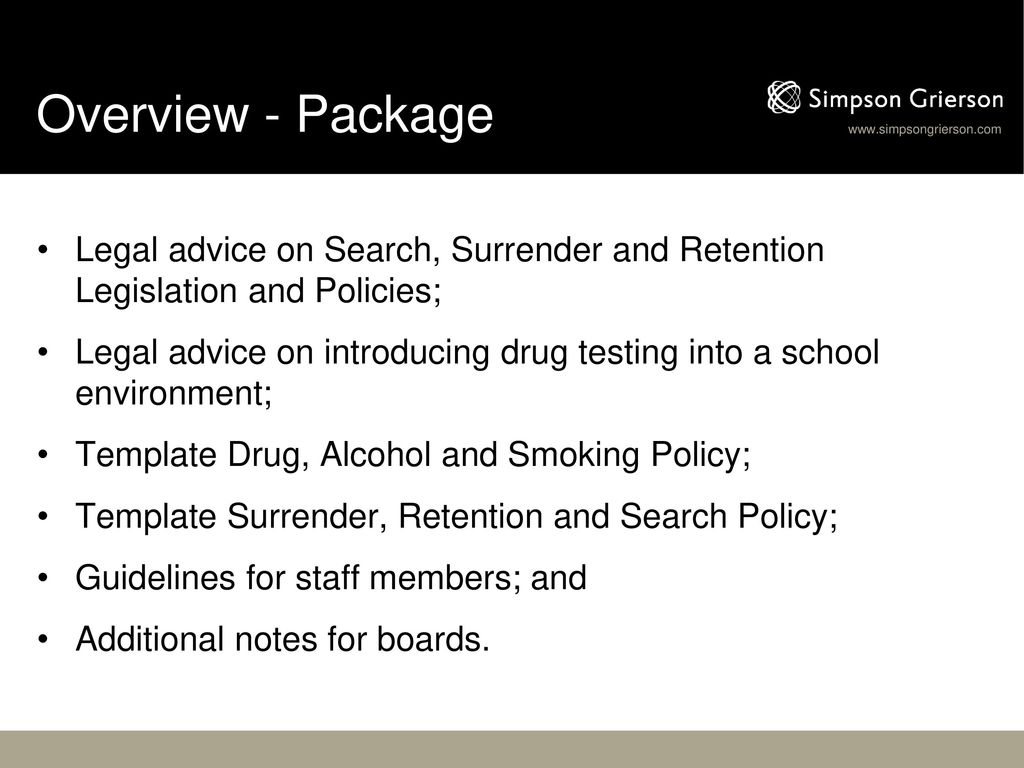 Isnz Seminar Search Surrender Policy And Drug Alcohol Smoking