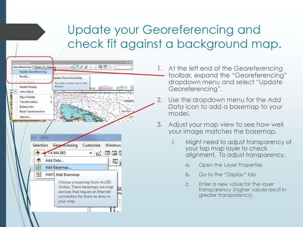 Gereferencing in ArcGIS - ppt download