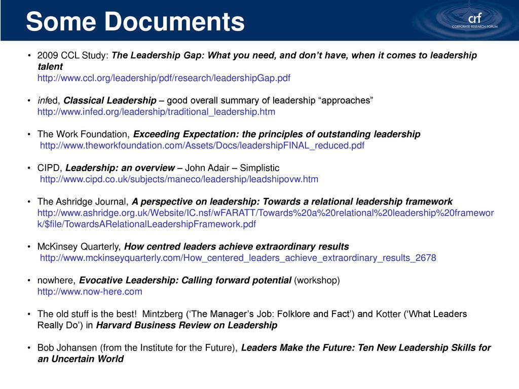 Corporate Research Forum Leadership development – - ppt download