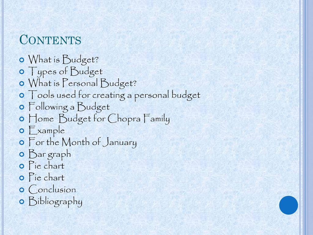 math s project home budget ppt download