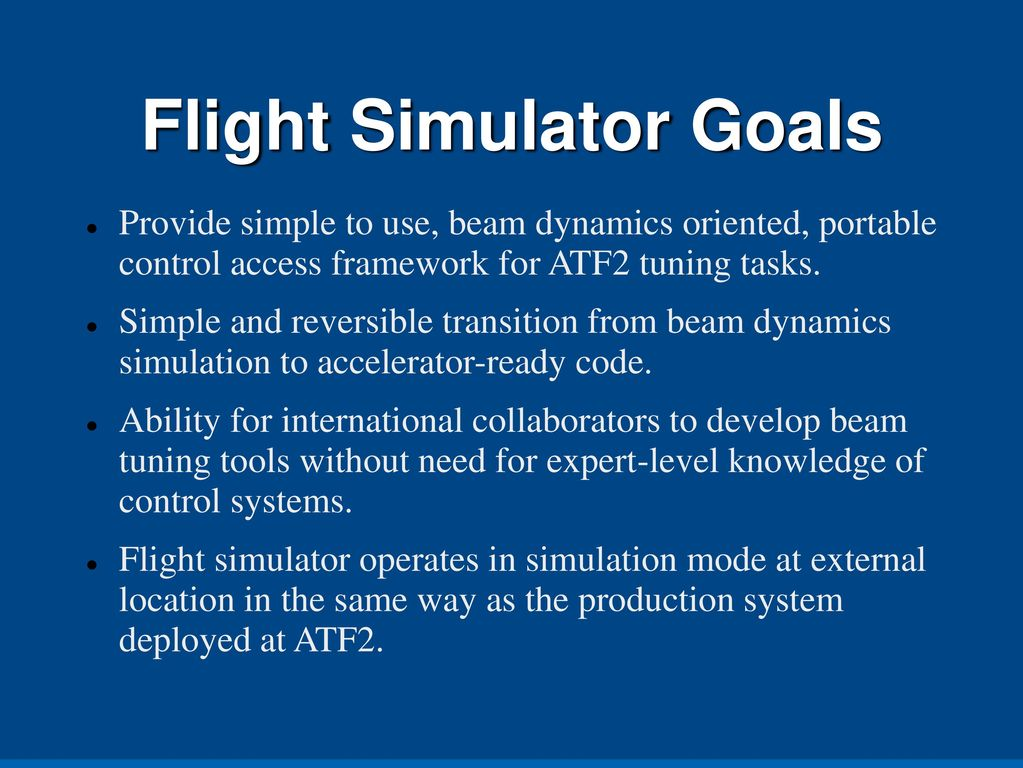 Flight Simulator for ATF2 - ppt download