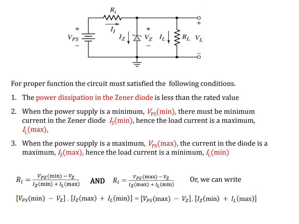 Recall Lecture 6 Diode Ac Equivalent Circuit Small Signal Analysis In A Zener Like The Diagram Below 10 For Proper Function
