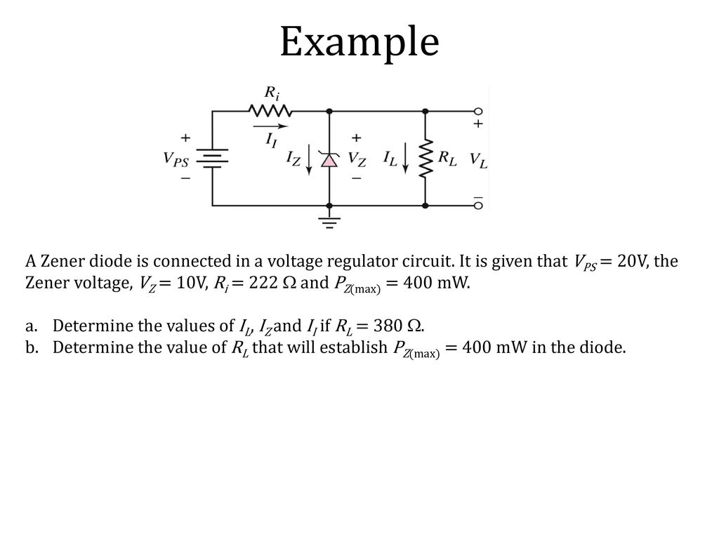 Recall Lecture 6 Diode Ac Equivalent Circuit Small Signal Analysis Diagram Zener 9 Example
