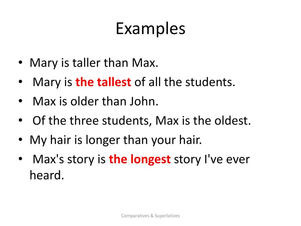 comparatives and superlatives ppt download