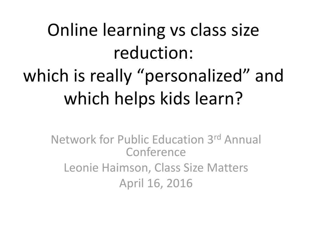 Network For Public Education Conference >> Network For Public Education 3rd Annual Conference Ppt Download