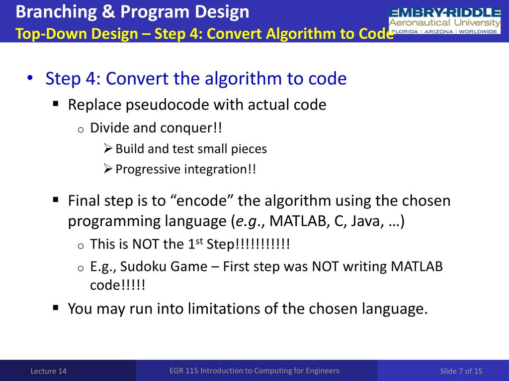 EGR 115 Introduction to Computing for Engineers - ppt download