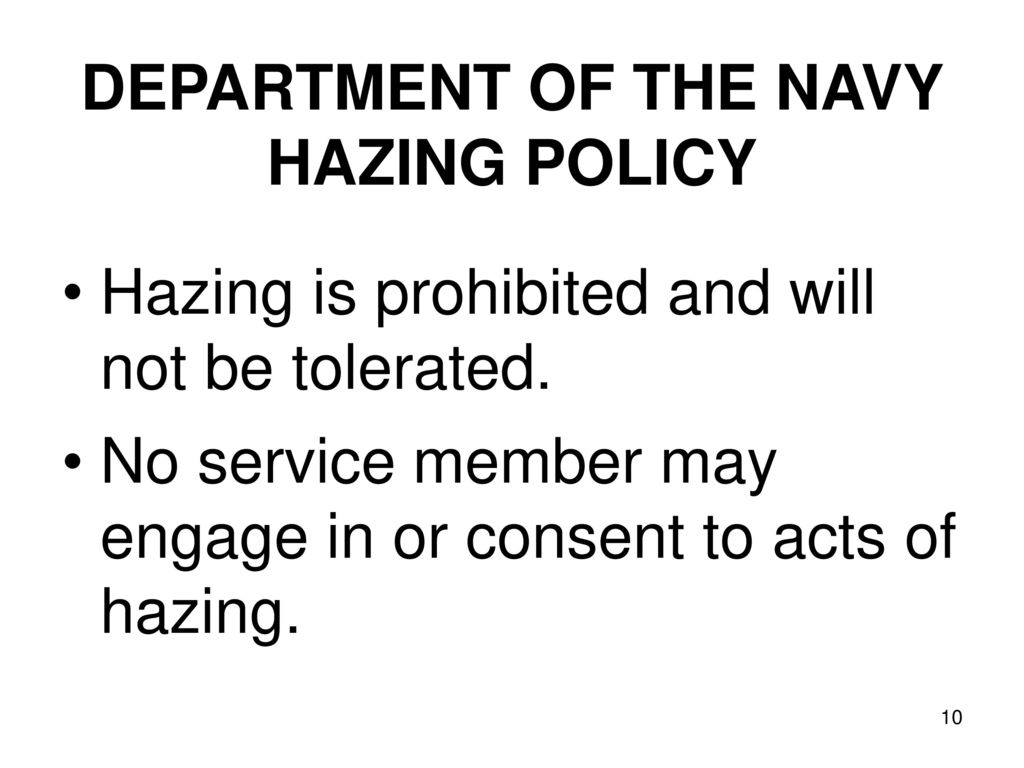 Navymarine Corps Policy On Hazing Ppt Download