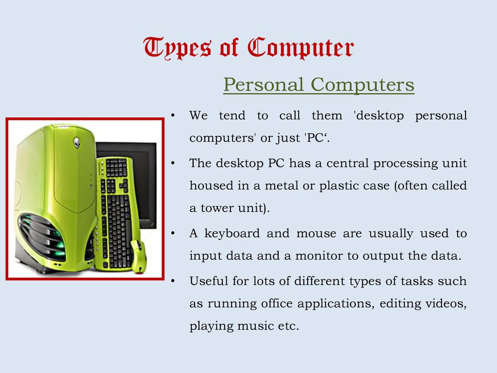 Types of Computer Super Computers - ppt download